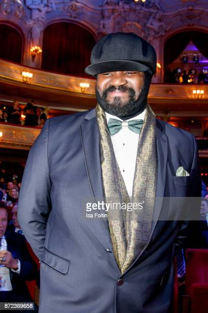 US singer Gregory Porter during the GQ Men of the year Award 2017 show at Komische Oper on November 9 2017 in Berlin Germany