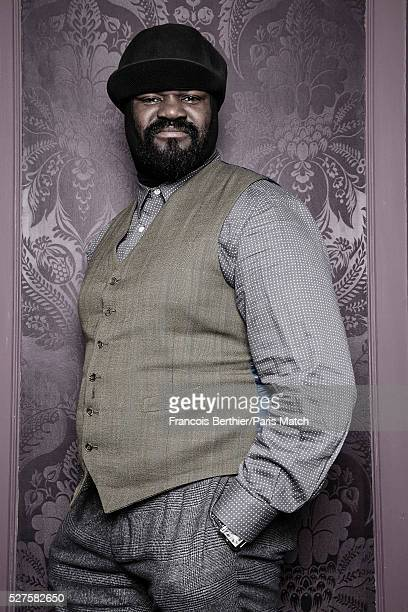 Singer Gregory Porter is photographed for Paris Match on March 16 2016 in Paris France