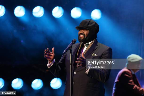 Singer Gregory Porter is seen on stage at the GQ Men of the year Award 2017 show at Komische Oper on November 9 2017 in Berlin Germany