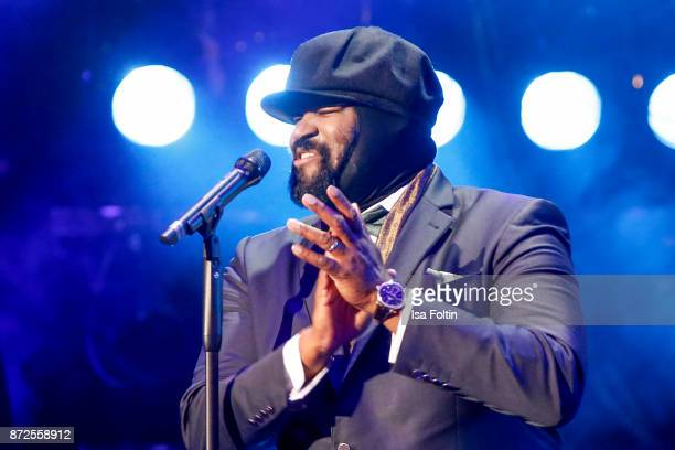 US singer Gregory Porter performs live on stage at the GQ Men of the year Award 2017 show at Komische Oper on November 9 2017 in Berlin Germany