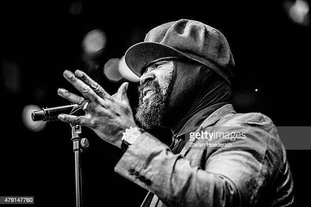 Singer Gregory Porter performs live on stage during a concert at Zitadelle Spandau on July 1 2015 in Berlin Germany