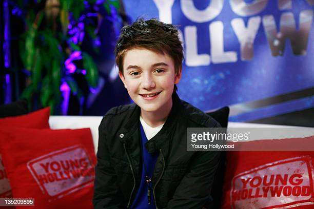 Singer Greyson Chance at the Young Hollywood Studio on December 6 2011 in Los Angeles California