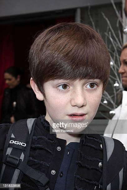 Singer Greyson Chance leaves the Hotel de Sers on December 10 2010 in Paris France