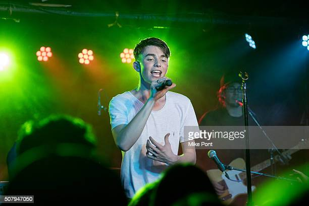 Singer Greyson Chance performs at The Studio at Webster Hall on February 1 2016 in New York City