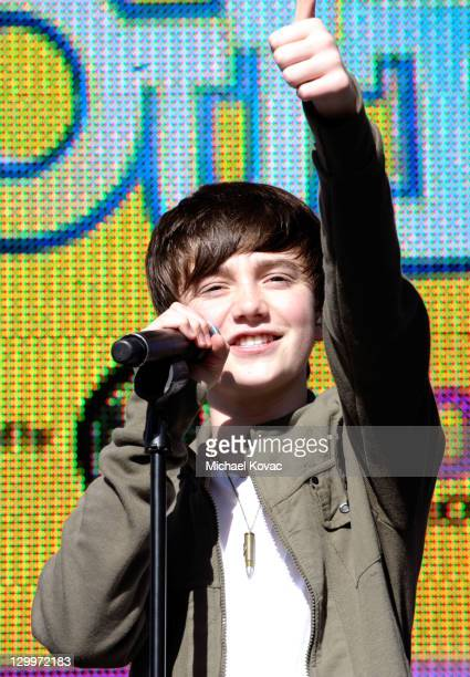 Singer Greyson Chance performs at Variety's 5th annual Power Of Youth event presented by The Hub at Paramount Studios on October 22 2011 in Hollywood...