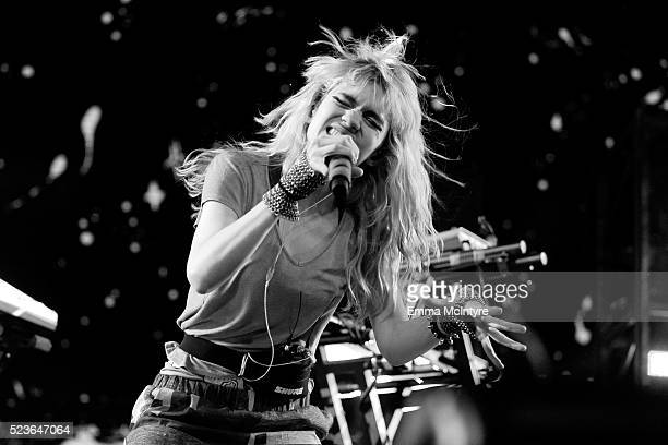 Singer Grimes performs onstage during day 2 of the 2016 Coachella Valley Music Arts Festival Weekend 2 at the Empire Polo Club on April 23 2016 in...