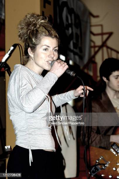 Singer Guia Barsanti performs live on stage at the Jazz Cafe in Camden London on 28th March 2004