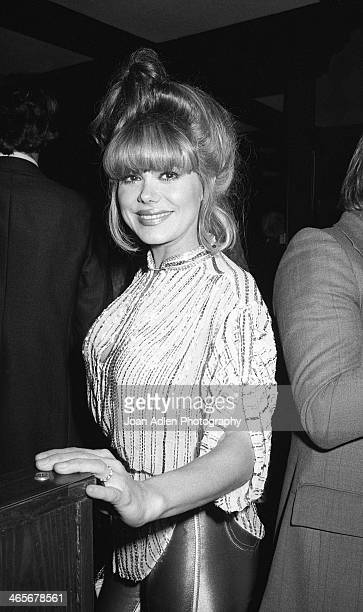 Singer, guitarist and actress Charo attends the opening night dinner reception for 'Evita' at Chasen's Restaurant on January 13, 1980 in Beverly...