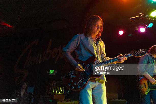 Singer guitarist and founding member Anton Newcombe of The Brian Jonestown Massacre performs live on stage at The Showbox on May 23 2018 in Seattle...