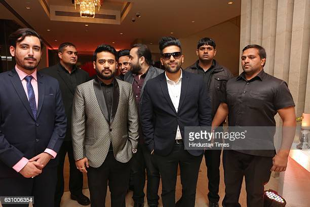 Singer Guru Randhawa during an engagement ceremony of Hisar MP Dushyant Chautala and Meghna Ahlawat on January 3 in Gurgaon India Dushyant is the...