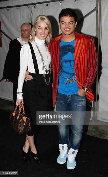 Singer Guy Sebastian and his girlfriend Jules Egan attend the Urban Music Awards at the State Sports Centre on July 21 2006 in Sydney Australia