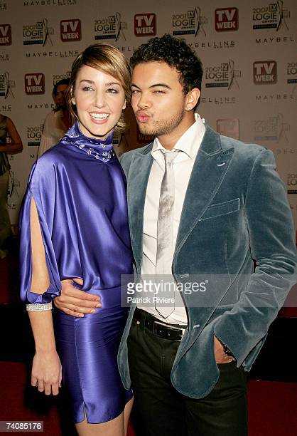 Singer Guy Sebastian and his girlfriend Julie Egan arrive at the 2007 TV Week Logie Awards at the Crown Casino on May 6 2007 in Melbourne Australia...