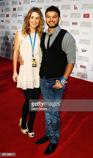 Singer Guy Sebastian and his wife Jules Egan arrive for the world premiere of `Australia' at the George Street Greater Union Cinemas on November 18...