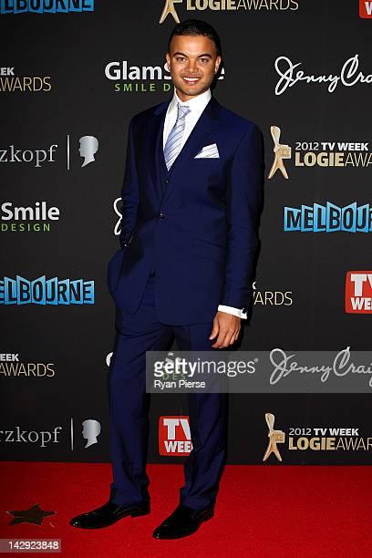 Singer Guy Sebastian arrives at the 2012 Logie Awards at the Crown Palladium on April 15 2012 in Melbourne Australia