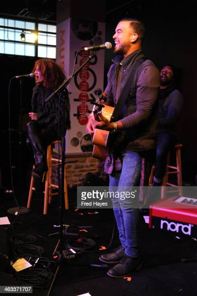 Singer Guy Sebastian performs at the Sundance ASCAP Music Cafe during the 2014 Sundance Film Festival on January 17 2014 in Park City Utah