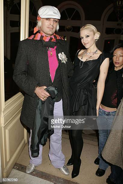Singer Gwen Stefani and guest attend the Vivienne Westwood Diamond Party at the 'France Amerique' residence on avenue Matigon as part of Paris...
