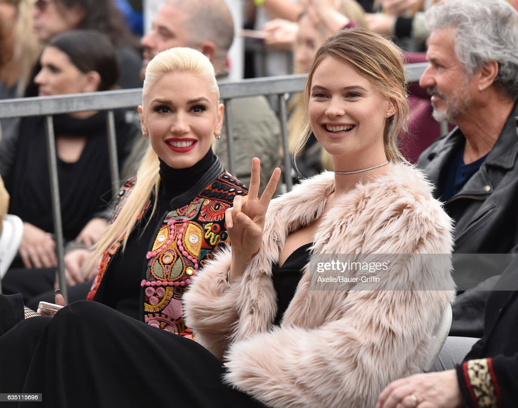 Singer Gwen Stefani and model Behati Prinsloo attend the ceremony honoring Adam Levine with star on the Hollywood Walk of Fame on February 10, 2017 in Hollywood, California.