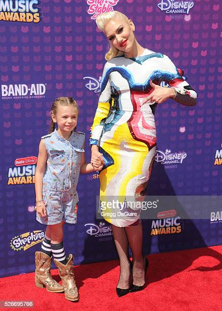 Singer Gwen Stefani and niece Stella Stefani arrive at the 2016 Radio Disney Music Awards at Microsoft Theater on April 30, 2016 in Los Angeles,...
