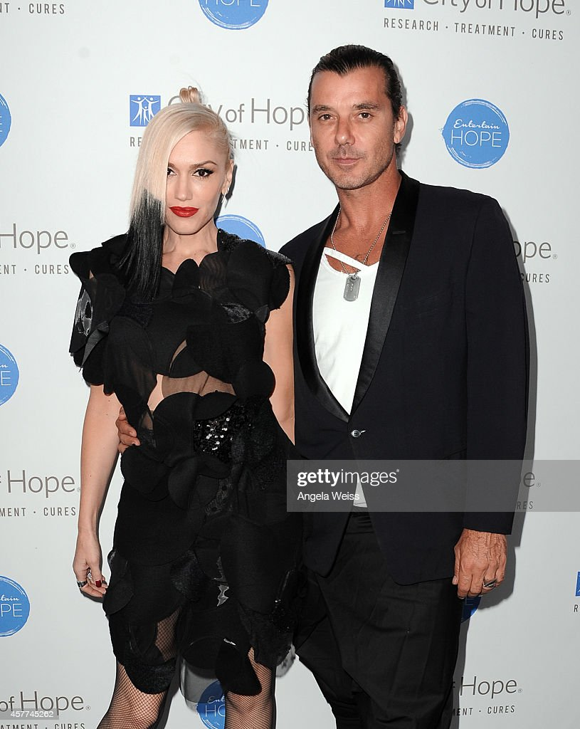 Singer Gwen Stefani and singer Gavin Rossdale attend the City of Hope Spirit of Life Gala honoring Apple's Eddy Cue at the Pacific Design Center on October 23, 2014 in West Hollywood, California.