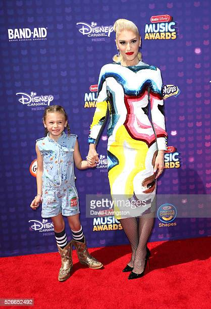 Singer Gwen Stefani and Stella Stefani attend the 2016 Radio Disney Music Awards at Microsoft Theater on April 30 2016 in Los Angeles California