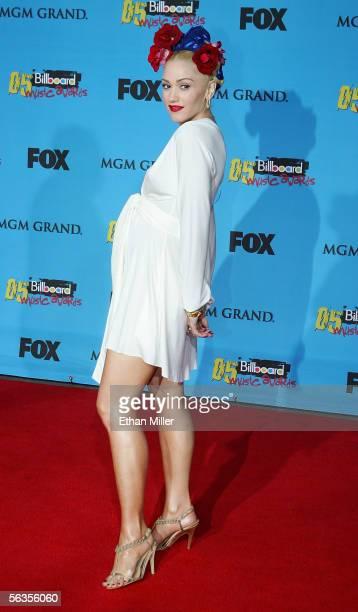 Singer Gwen Stefani arrives at the 2005 Billboard Music Awards held at the MGM Grand Garden Arena on December 6 2005 in Las Vegas Nevada