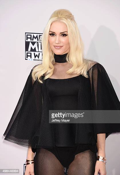 Singer Gwen Stefani arrives at the 2015 American Music Awards at Microsoft Theater on November 22 2015 in Los Angeles California