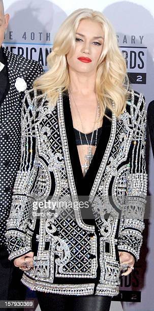 Singer Gwen Stefani arrives at The 40th American Music Awards at Nokia Theatre LA Live on November 18 2012 in Los Angeles California