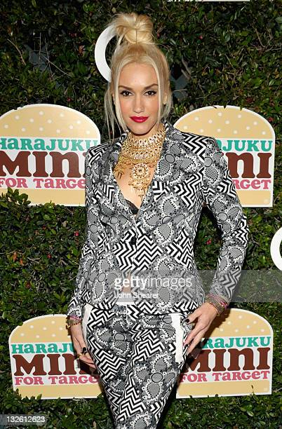 Singer Gwen Stefani arrives at the launch of her Harajuku Mini for Target Collection at Jim Henson Studios on November 12 2011 in Los Angeles...
