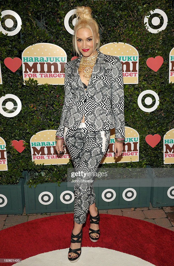 Singer Gwen Stefani arrives at the launch of her Harajuku Mini for Target Collection at Jim Henson Studios on November 12, 2011 in Los Angeles, California.
