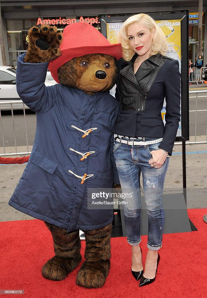 Singer Gwen Stefani arrives at the Los Angeles premiere of 'Paddington' at TCL Chinese Theatre IMAX on January 10, 2015 in Hollywood, California.