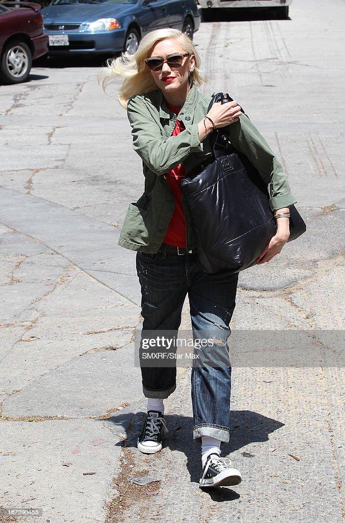 Singer Gwen Stefani as seen on April 23, 2013 in Los Angeles, California.