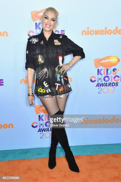 Singer Gwen Stefani at Nickelodeon's 2017 Kids' Choice Awards at USC Galen Center on March 11 2017 in Los Angeles California