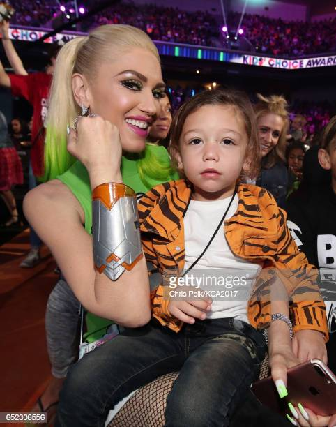 Singer Gwen Stefani attends Nickelodeon's 2017 Kids' Choice Awards at USC Galen Center on March 11 2017 in Los Angeles California