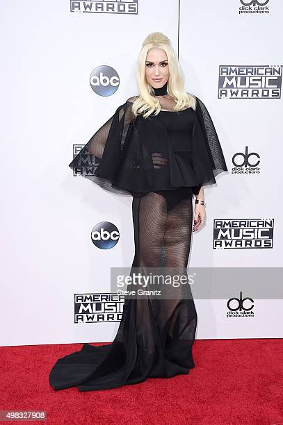 Singer Gwen Stefani attends the 2015 American Music Awards at Microsoft Theater on November 22 2015 in Los Angeles California