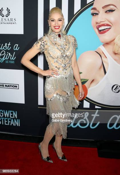 Singer Gwen Stefani attends the grand opening of her Gwen Stefani Just a Girl residency at Planet Hollywood Resort Casino on June 28 2018 in Las...