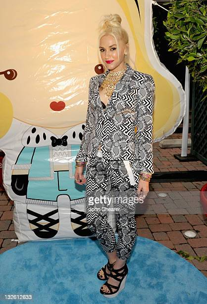 Singer Gwen Stefani attends the launch of her Harajuku Mini for Target Collection at Jim Henson Studios on November 12 2011 in Los Angeles California