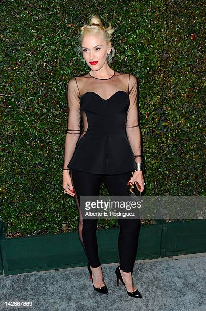Singer Gwen Stefani attends the world premiere of 'My Valentine' video hosted by Paul McCartney and Stella McCartney on April 13 2012 in West...