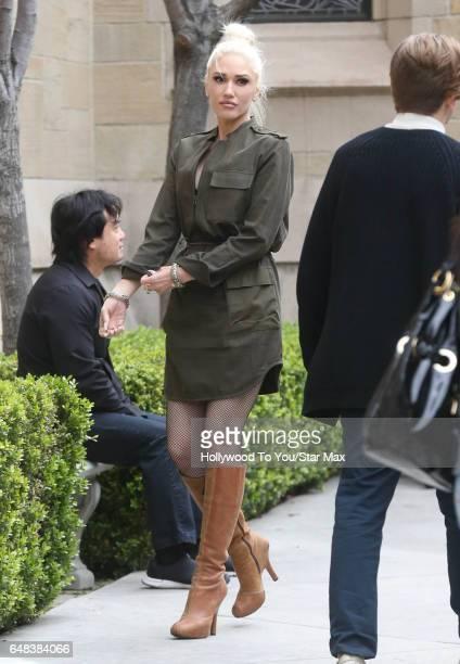 Singer Gwen Stefani is seen on March 5 2017 in Los Angeles CA