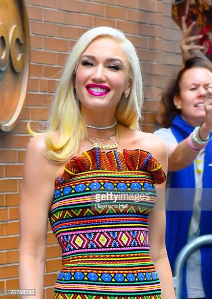 Singer Gwen Stefani is seen outside ABC on September 24, 2019 in New York City.