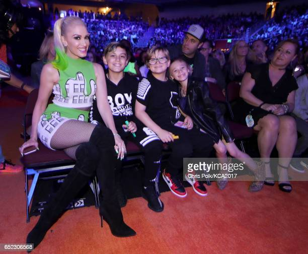 Singer Gwen Stefani Kingston Rossdale and Zuma Nesta Rock Rossdale attend at Nickelodeon's 2017 Kids' Choice Awards at USC Galen Center on March 11...
