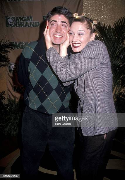 Singer Gwen Stefani of No Doubt and brother Eric attend The Rolling Stones in Concert Bridges to Babylon Tour on February 15 1998 at The Joint Hard...