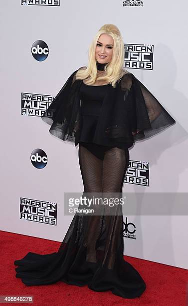 Singer Gwen Stefani of No Doubt arrives at the 2015 American Music Awards at Microsoft Theater on November 22 2015 in Los Angeles California