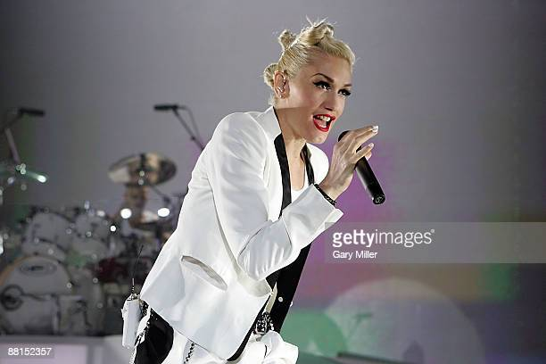Singer Gwen Stefani of No Doubt performs at the Cynthia Woods Mitchell Pavilion on May 31 2009 in The Woodlands Texas