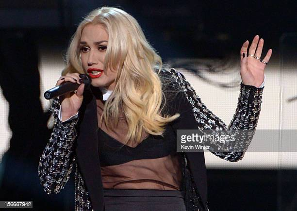 Singer Gwen Stefani of No Doubt performs onstage during the 40th American Music Awards held at Nokia Theatre LA Live on November 18 2012 in Los...