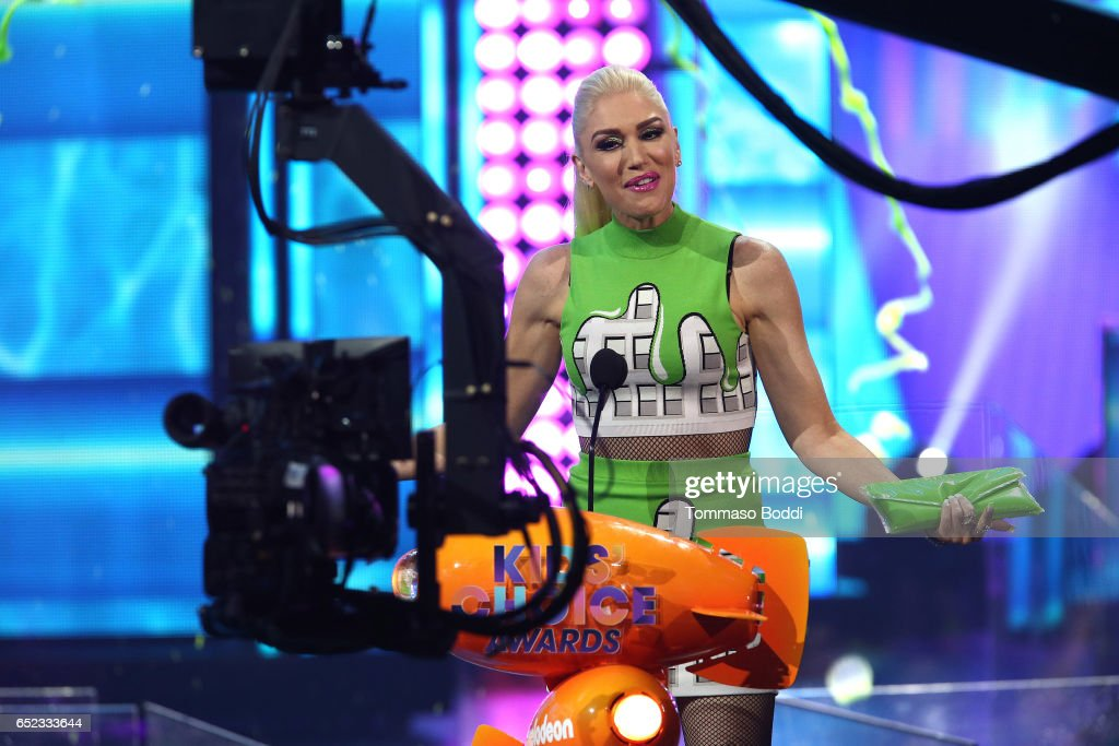 Singer Gwen Stefani onstage at the Nickelodeon's 2017 Kids' Choice Awards at USC Galen Center on March 11, 2017 in Los Angeles, California.