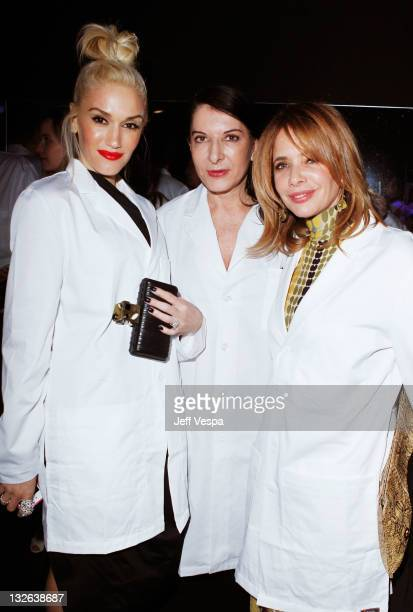 Singer Gwen Stefani performance artist Marina Abramovic and actress Rosanna Arquette attend 2011 MOCA Gala An Artist's Life Manifesto Directed by...