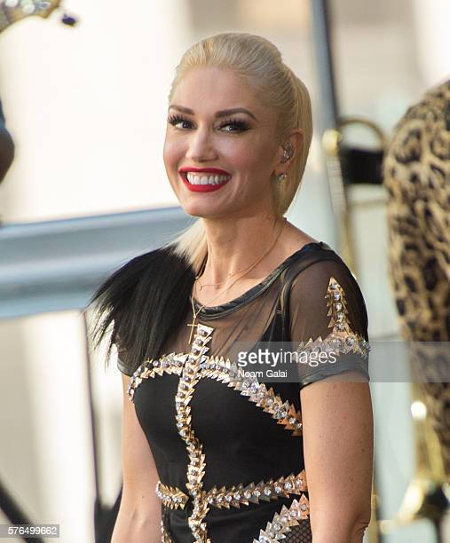 Singer Gwen Stefani performs on NBC's 'Today' at Rockefeller Plaza on July 15 2016 in New York City