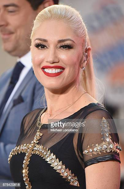 Singer Gwen Stefani performs on NBC's Today Show at Rockefeller Plaza on July 15 2016 in New York City