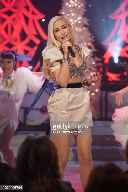 """Singer Gwen Stefani performs on """"The Talk,"""" Monday, December 17, 2018 on the CBS Television Network."""