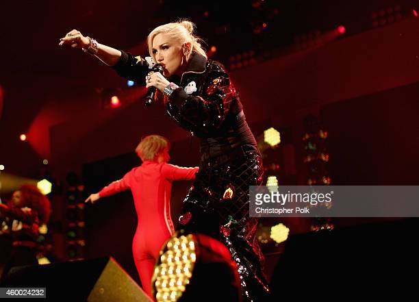 Singer Gwen Stefani performs onstage during KIIS FM's Jingle Ball 2014 powered by LINE at Staples Center on December 5 2014 in Los Angeles California